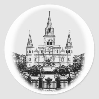 St Louis Cathedral Jackson Square New Orleans Classic Round Sticker