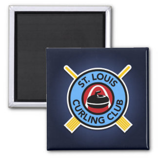St Louis Curling Club 2 Inch Square Magnet
