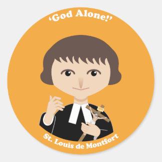 St. Louis de Montfort Classic Round Sticker