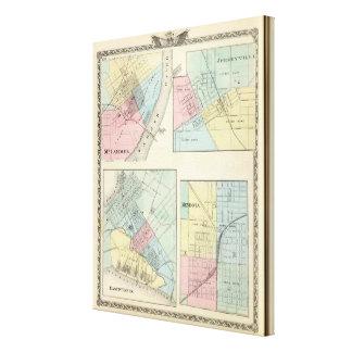 St. Louis del este, Mt Carmel, Jerseyville y Mendo Impresión En Lienzo Estirada