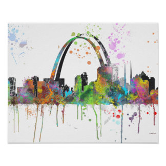 ST LOUIS DIMENSIONS SKYLINE - Poster