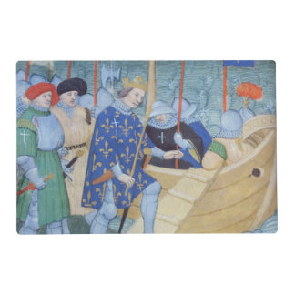 St. Louis embarking for the Crusades Laminated Place Mat