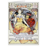 """St. Louis Exposition Art by Mucha"" Card"
