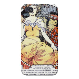"""St. Louis Exposition Art by Mucha"" iPhone Case iPhone 4 Cases"