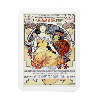 """""""St. Louis Exposition Art by Mucha"""" Magnet"""