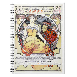 """St. Louis Exposition Art by Mucha"" Notebook"