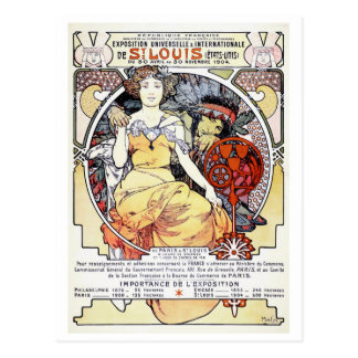 """St. Louis Exposition Art by Mucha"" Postcard"