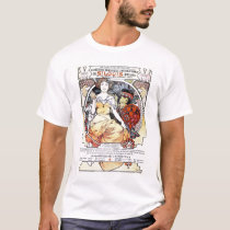 """St. Louis Exposition Art by Mucha""  T-Shirt"