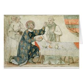 St. Louis feeding a miserly monk Card