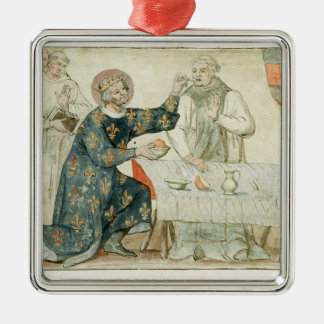 St. Louis feeding a miserly monk Metal Ornament