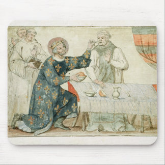 St. Louis feeding a miserly monk Mouse Pad