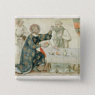 St. Louis feeding a miserly monk Pinback Button