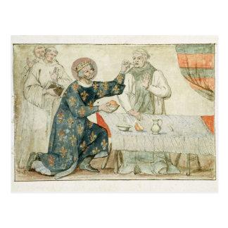 St. Louis feeding a miserly monk Postcard
