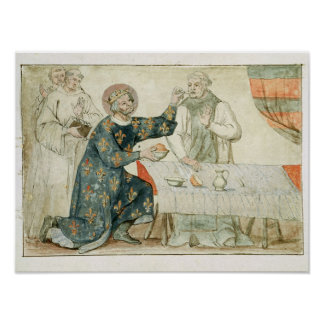 St. Louis feeding a miserly monk Poster