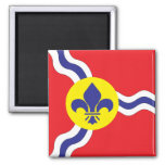 St. Louis flag 2 Inch Square Magnet
