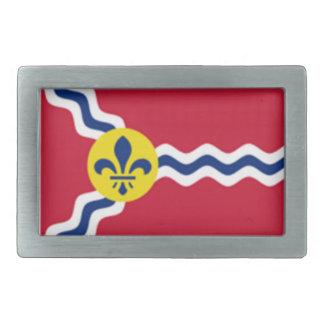 ST Louis Flag Rectangular Belt Buckle