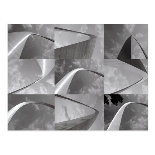 St. Louis Gateway Arch Photo Collage Post Card