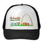 St Louis Gateway to the West Trucker Hats