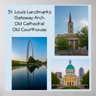 St Louis Landmarks Poster