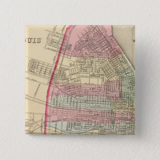 St Louis Map by Mitchell Button