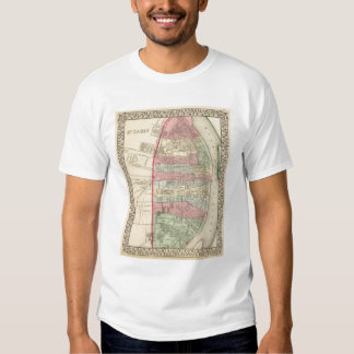 St Louis Map by Mitchell T Shirt