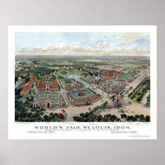 St Louis mapa panorámico de la feria de mundo de Impresiones
