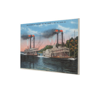 St. Louis, MES - opinión Natchez y Roberto E. Lee Impresión En Lona