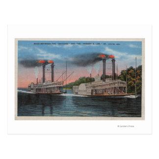 St. Louis, MES - opinión Natchez y Roberto E. Lee Tarjetas Postales