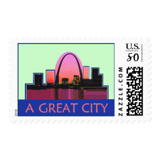 St. Louis Misouri MO Arch A Great City Postage
