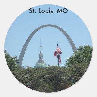 St. Louis, Missouri Classic Round Sticker