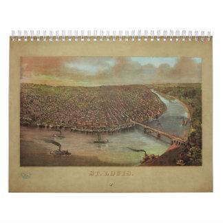St. Louis Missouri de George Degen a partir de Calendario