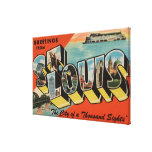 St. Louis, Missouri - escenas grandes 2 de la letr Impresión En Lona Estirada
