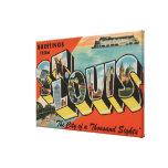 St. Louis, Missouri - escenas grandes 2 de la letr Impresion De Lienzo