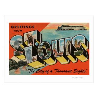 St Louis Missouri - escenas grandes de la letra Tarjetas Postales