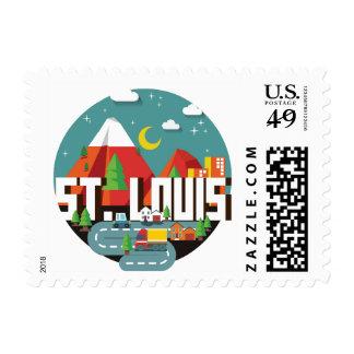 St. Louis, Missouri Geometric Design Postage
