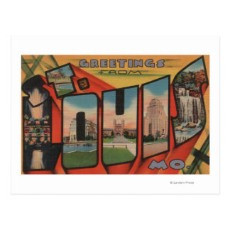 St. Louis, Missouri - Large Letter Scenes 2 Postcard