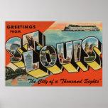 St. Louis, Missouri - Large Letter Scenes 2 Poster