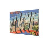 St. Louis, Missouri - Large Letter Scenes Canvas Prints