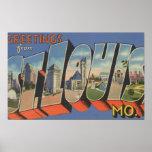 St. Louis, Missouri - Large Letter Scenes Posters
