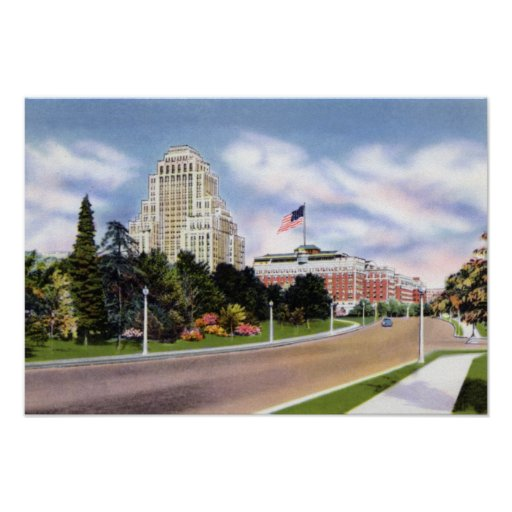 St. Louis Missouri Lindell Boulevard Poster