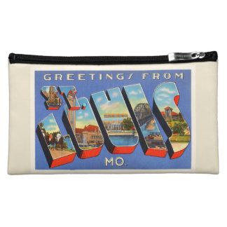 St Louis Missouri MO Old Vintage Travel Souvenir Makeup Bag