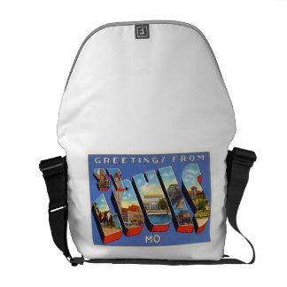 St Louis Missouri MO Old Vintage Travel Souvenir Messenger Bag