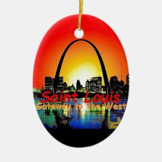 St. Louis Missouri Christmas Tree Ornaments