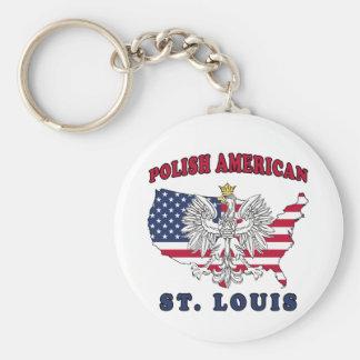 St. Louis Missouri Polish Keychain