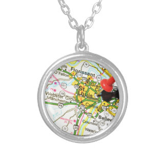 St. Louis, Missouri Silver Plated Necklace