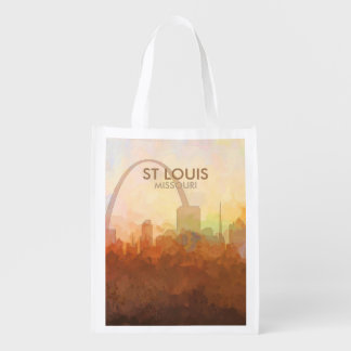 St Louis, Missouri Skyline IN CLOUDS Reusable Grocery Bag