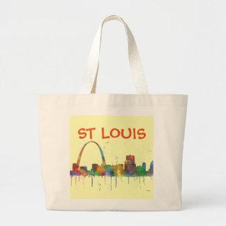 ST LOUIS, MISSOURI SKYLINE LARGE TOTE BAG