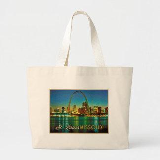 St. Louis Missouri Skyline Large Tote Bag