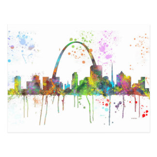 ST LOUIS, MISSOURI SKYLINE POSTCARD