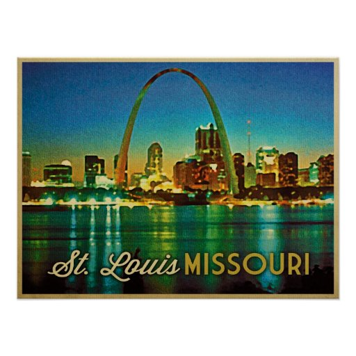 St. Louis Missouri Skyline Poster